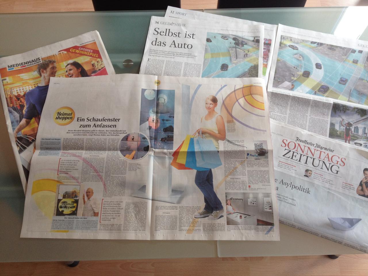 Zwei an einem Tag: KaeferLive in der Zeitung
