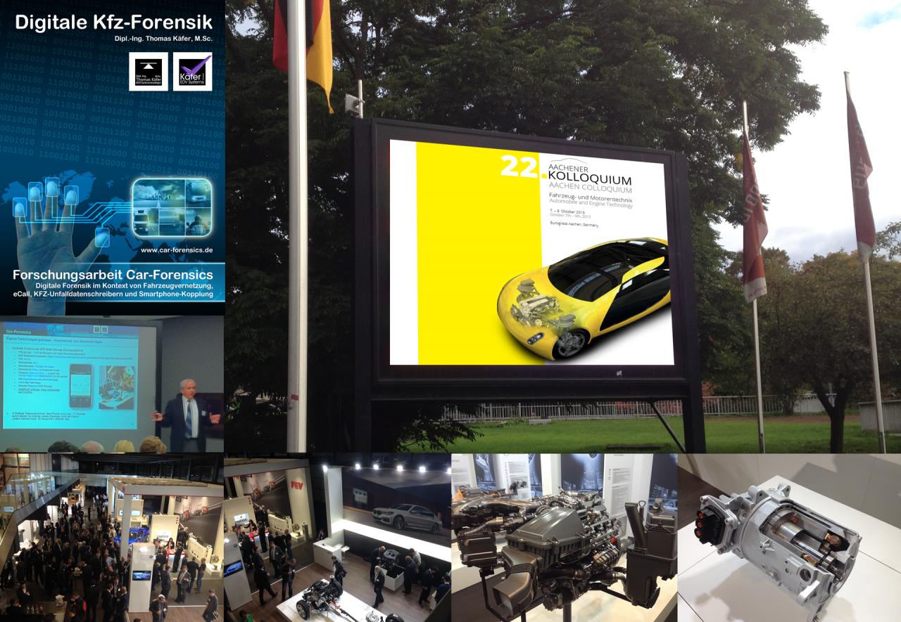 Vorträge auf dem Techday in Wolfsburg und beim 24. Aachener Kolloquium Fahrzeug- und Motorentechnik im Aachener Eurogress