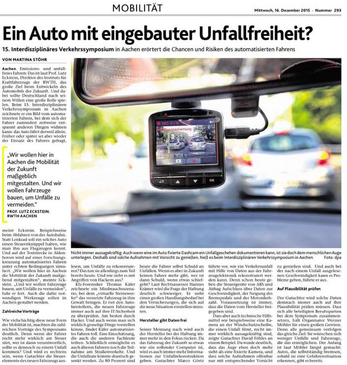 Thomas Käfer referiert beim 15. Aachener Verkehrssymposium im Autohaus Jacobs Aachen