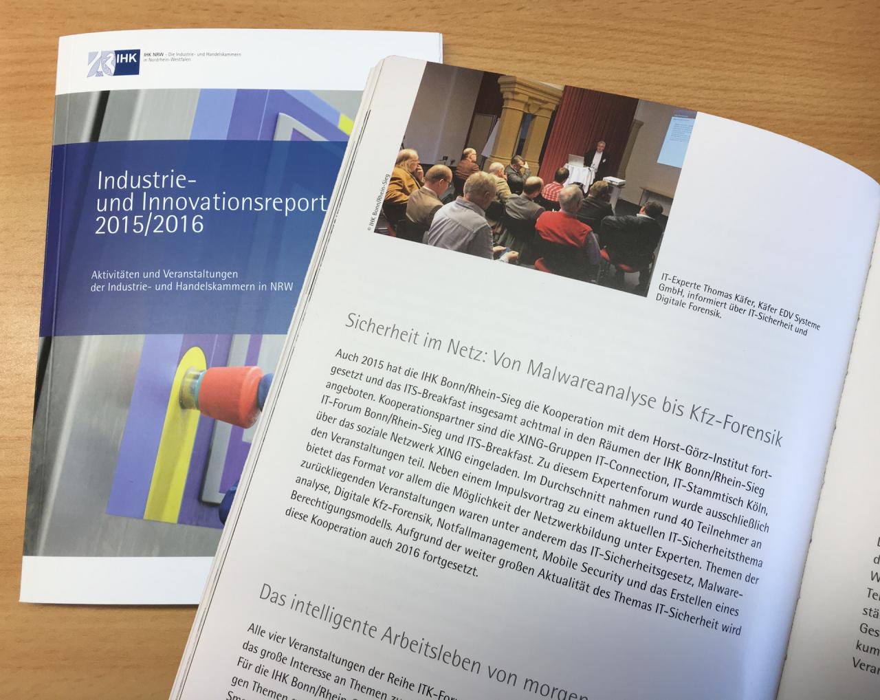 Digitale Forensik ist ein Thema im Innovationsreport der IHK NRW