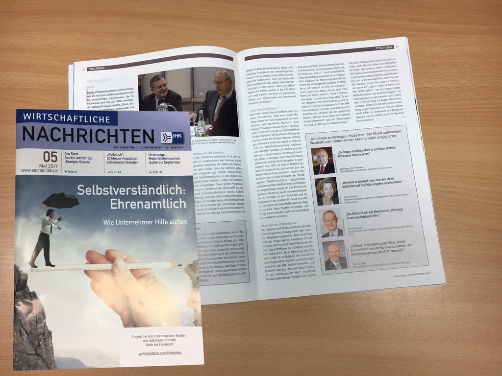 Ehrenamtliches Engagement bei der IHK Aachen und am Landgericht Aachen