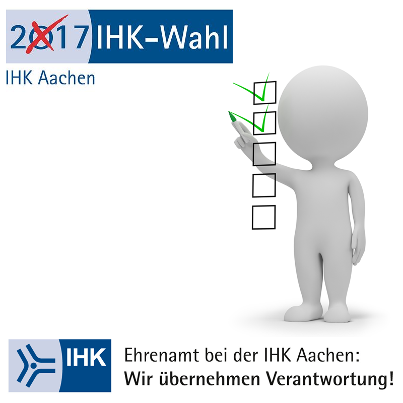 Wahl zur Vollversammlung der IHK Aachen