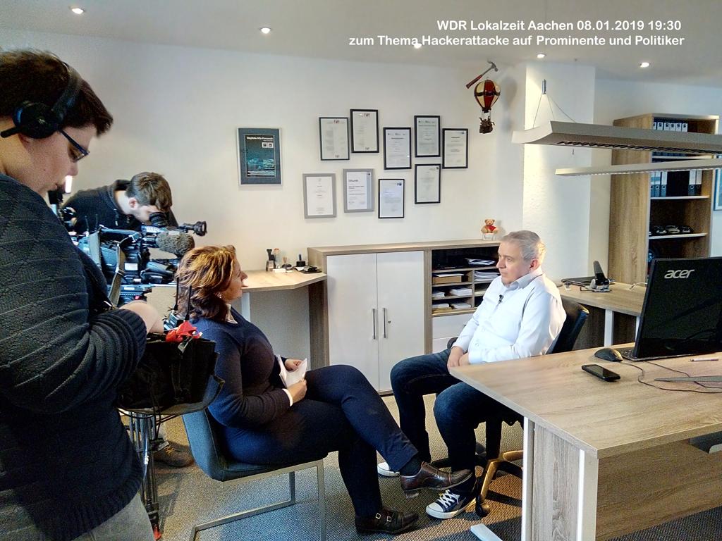 WDR Lokalzeit Aachen 08.01.2019 19:30 Uhr - Hackerattacke auf Prominente und Politiker