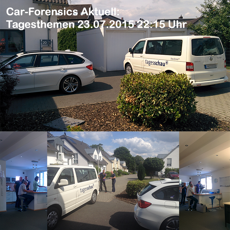 Car-Forensics in den ARD tagesthemen 23.07.2015